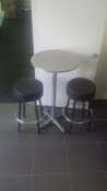 1xbar table and 2 stools