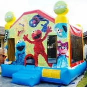 large Elmo Combo Jumping Castle