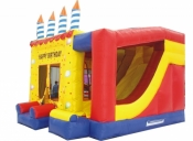 Birthday Cake - Large Jumping Castle, 4.5m x 4.5 m