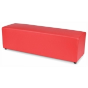 Ottoman Bench Red