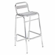Polished Aluminium Bar Stool