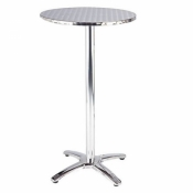 Polished Aluminium Bar Table