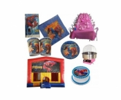 Spiderman Jumping Castle Party Package Deal