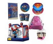 Superman Jumping Castle Party Package Deal